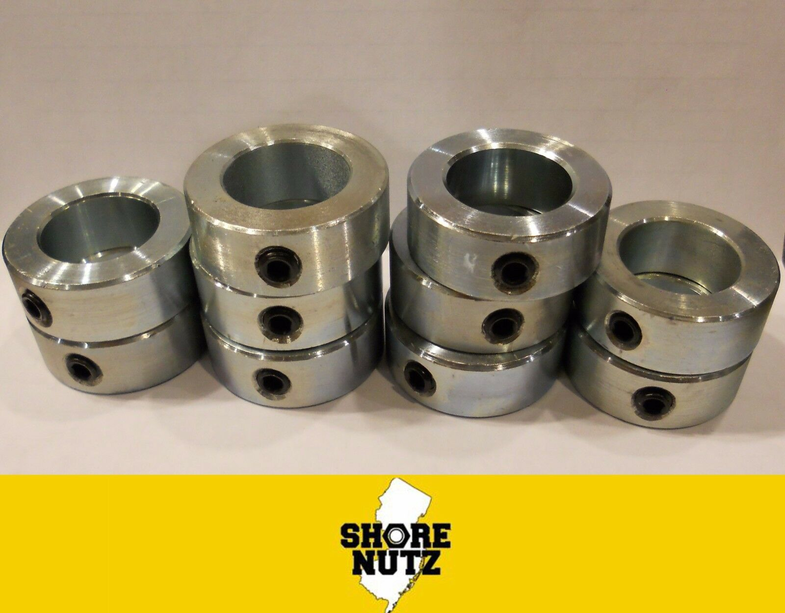 "4 PCS zinc plated FREE standard shipping 1-1//16"" bore set shaft collar"