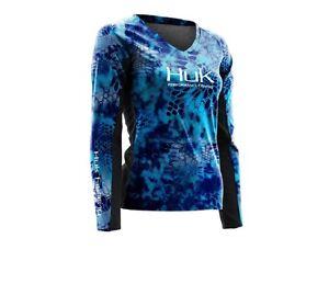 e0a6c68d Image is loading Huk-Fishing-Ladies-Kryptek-ICON-Long-Sleeve-Shirt-