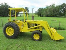 John Deere 300b Diesel Tractor With Loader Bucket Industrial 4 Post Rops 2wd