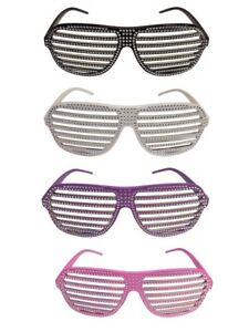 e8a121d0a30f Image is loading Glitter-Party-Shutter-Shades-for-Macho-Man-Costume