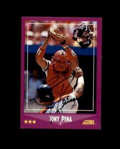 Tony-Pena-Hand-Signed-1988-Score-St-Louis-Cardinals-Autograph