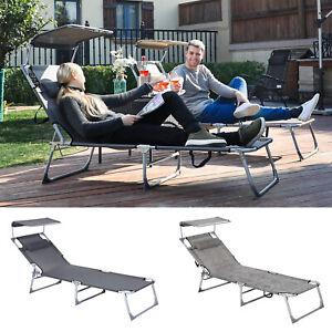 Liegestuhl-Sonnenliege-Gartenliege-Relaxliege-Strandliege-klappbar-193x63x32-cm