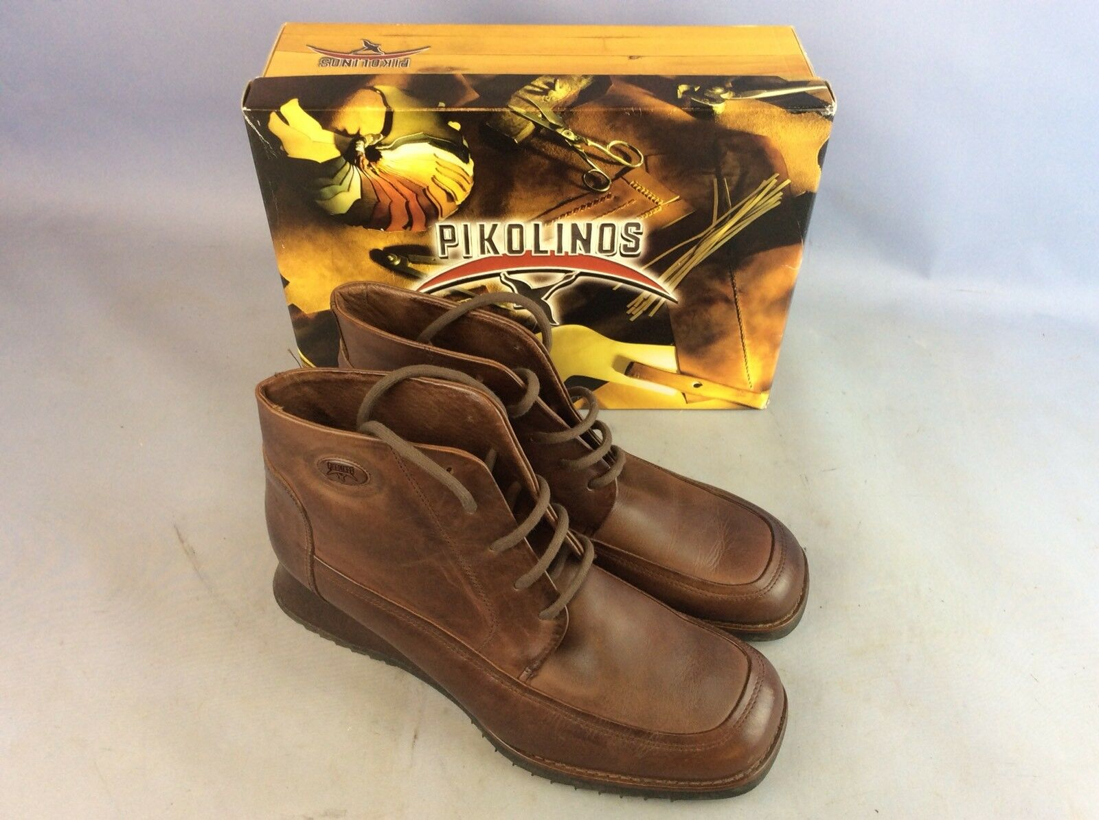 Pikolinos Mens Casual Boots, BROWN 41-SIZE 7