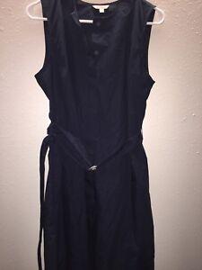 Gap-Designed-and-Crafted-Sleeveless-Dress-W-Belt-Navy-Size-6