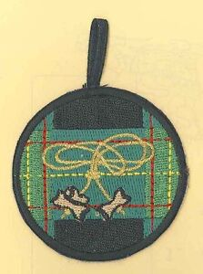 Scout Leader 2 Beads Woodbadge BRONZE Emblem Patch SCOUTS OF CHINA TAIWAN