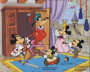 complete Issue Never Hinged 1985 Walt-disney-f Convenient To Cook Gambia Block16 Unmounted Mint