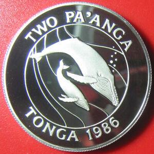 1986-TONGA-2-PA-039-ANGA-PAANGA-84oz-SILVER-PROOF-HUMPBACK-WHALE-MOTHER-BABY-WWF