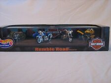 1999 Hot Wheels Collectibles Rumble Road Harley Davidson Set
