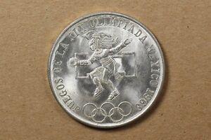 Olympic Games Coin 25 Pesos Juegos De La Xix Olimpiada Mexico 1968