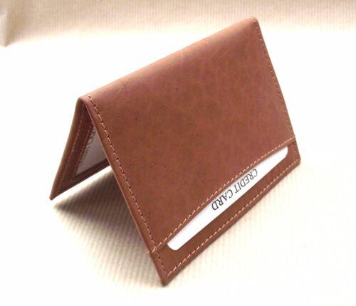 licence ID holder vs933 Lambretta logo Tan Leather wallet credit card size