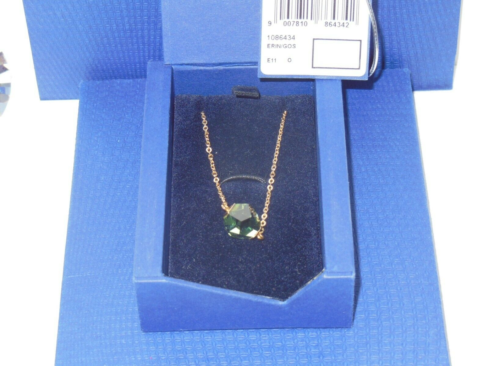 GENUINE Swan Signed SWAROVSKI  Nuts  Erinite Crystal Pendant -