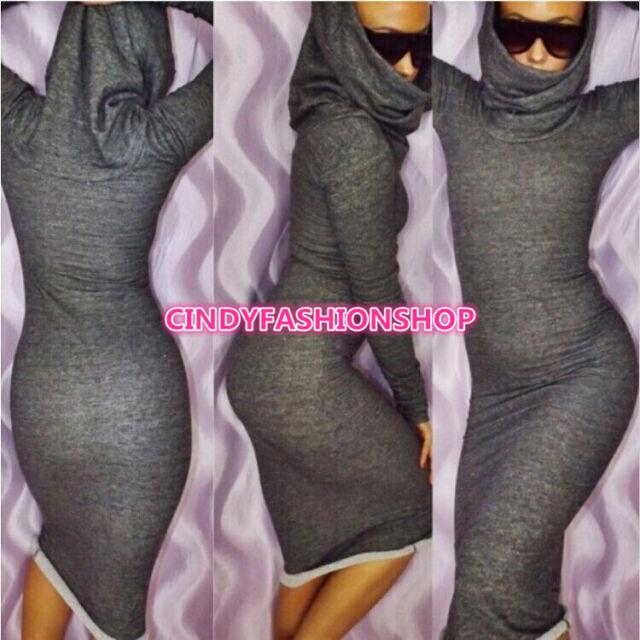 New Sexy Women Formal LongSleeve  Maxi Bandage Bodycon Sweater Casual Dress