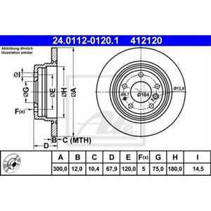 ATE 2x Disques de Frein Plein 24.0112-0120.1
