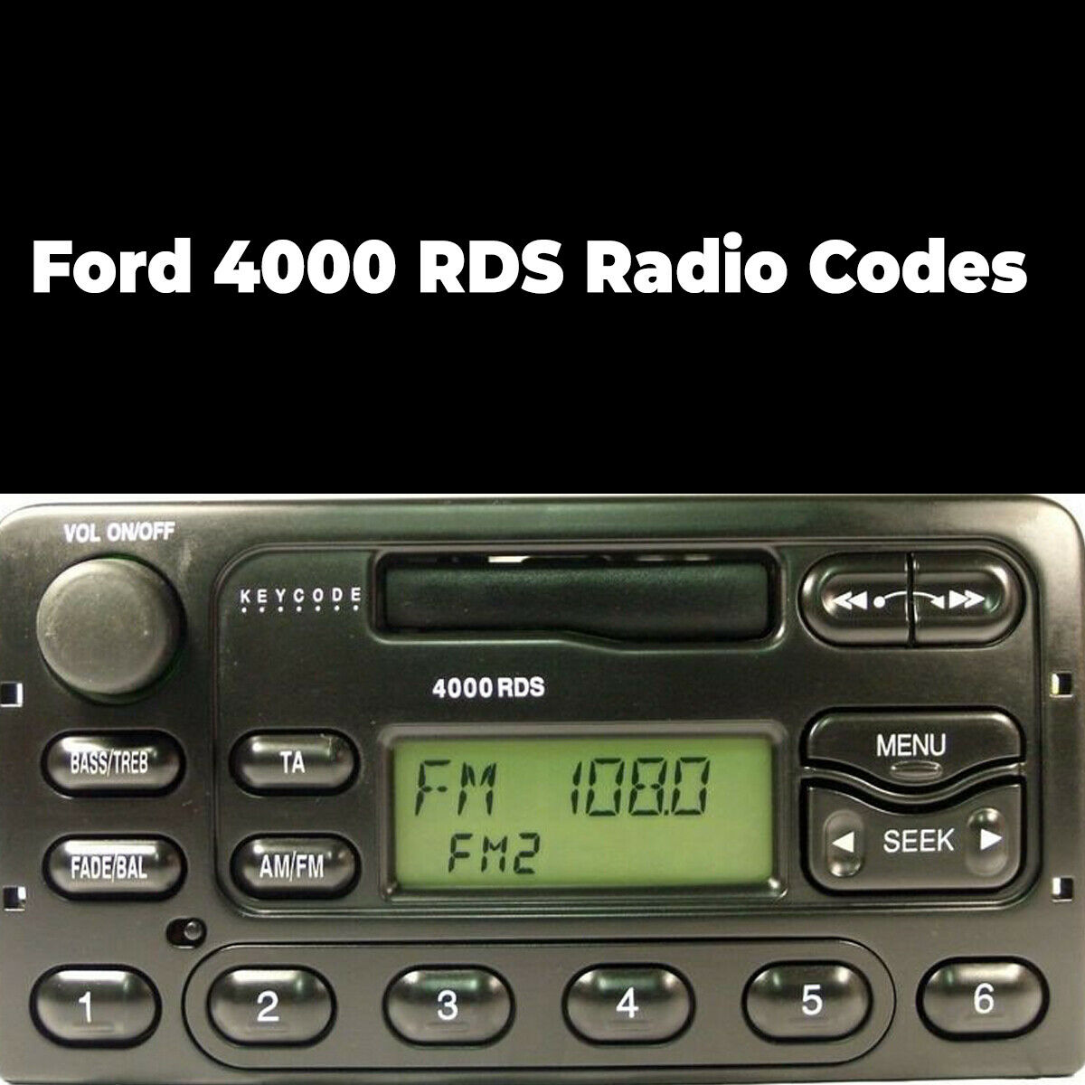 Details about Ford 4000 RDS Radio Code Stereo Unlock Reset Codes Pin Car |  Fast Service