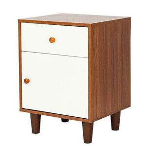 Nightstand Bedside End Table Bedroom Side Stand Accent Modern Storage Drawers