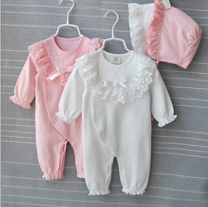 Newborn Baby Girl Clothes Cotton Princess Lace Infant Dress Baby Girl Rompers