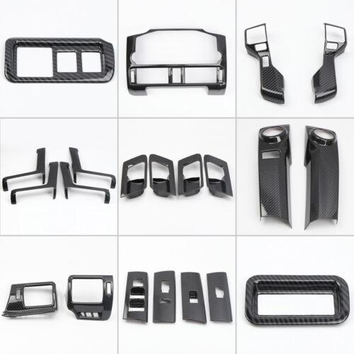 Carbon Fiber Black Whole Set Interior Cover Trim 21pcs For Toyota 4Runner 14-19