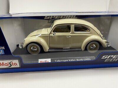 MAISTO DIECAST 1:18 SCALE Diecast Car 1955 Volkswagen Kafer-Beetle Blue or Cream