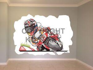 Huge-Koolart-Cartoon-Honda-M-Marquez-Moto-Gp-Wall-Sticker-Poster-Mural-3225