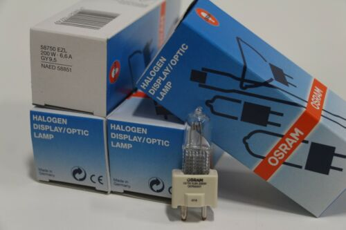 58750 EZL Osram Sylvania 200W 200TAQ Halogen Airfiled Long Life Bulb 4 Lot of