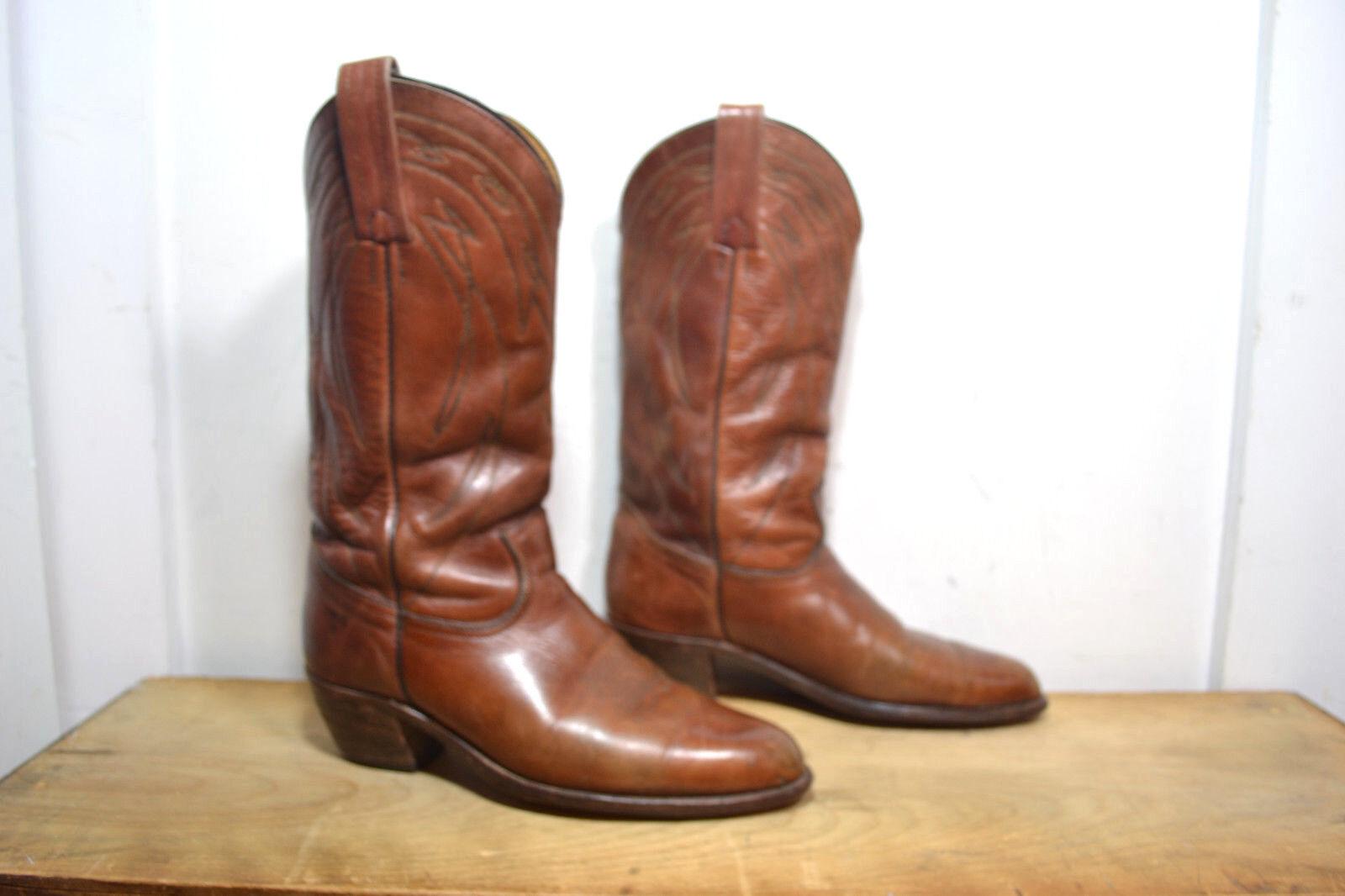 VINTAGE FRYE braun Leather Western   Cowboy, Mens 9.5 D