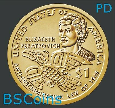 2020 P/&D Native American Sacagawea Peratrovich Dollar PRESALE 2 Coins