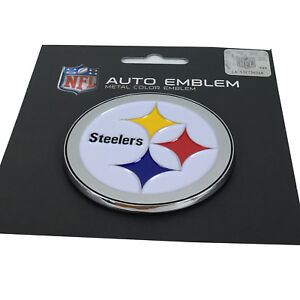 New-NFL-Pittsburgh-Steelers-Auto-Car-Truck-Heavy-Duty-Metal-Color-Emblem