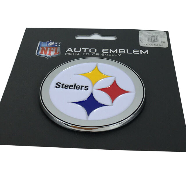 Official Licensed - NFL Pittsburgh Steelers 3d Auto Metal Color Emblem 8fb8e0271