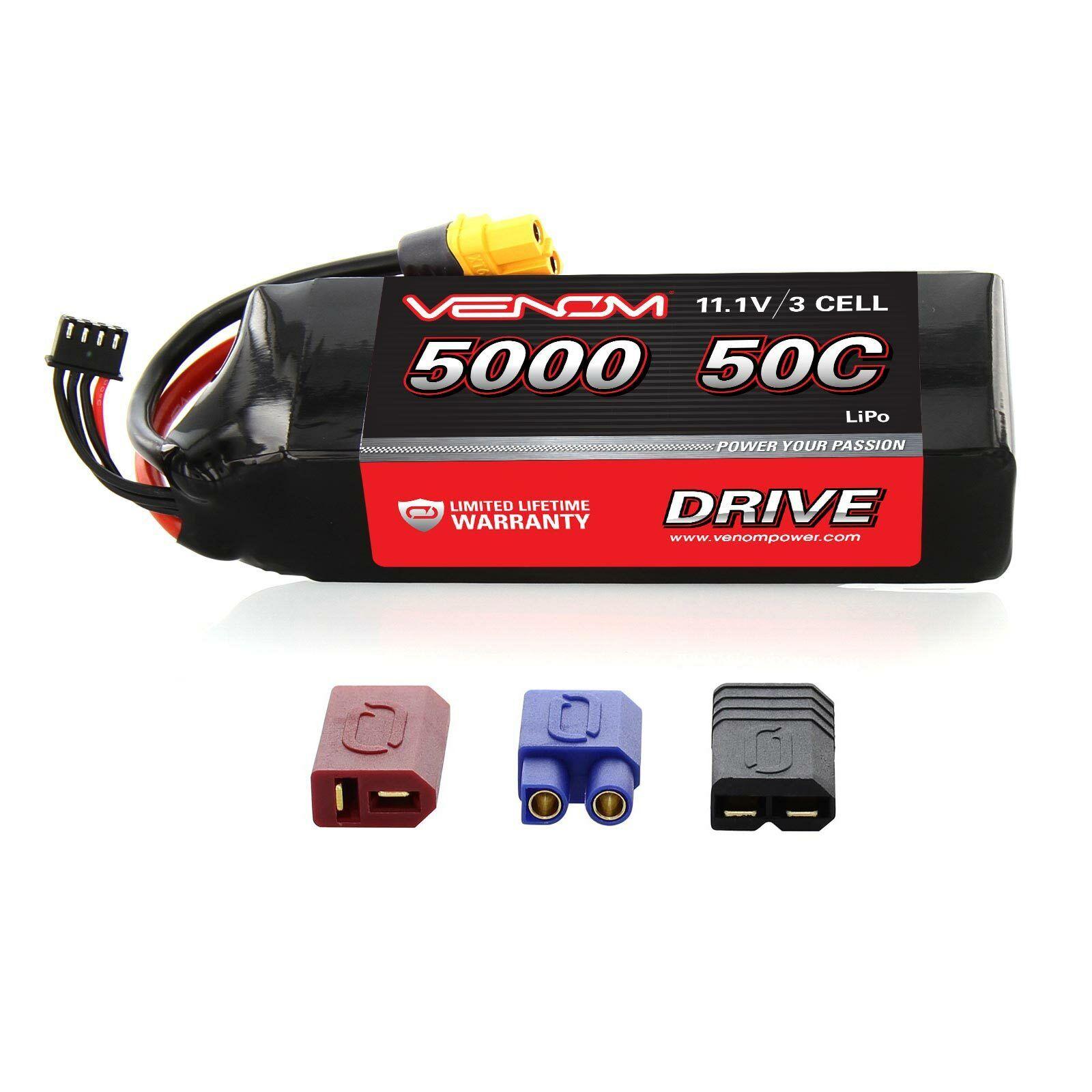 Axial SCX10 Ram Power Wagon 50C 11.1V 11.1V 11.1V 5000mAh Batería Lipo por Venom  solo cómpralo