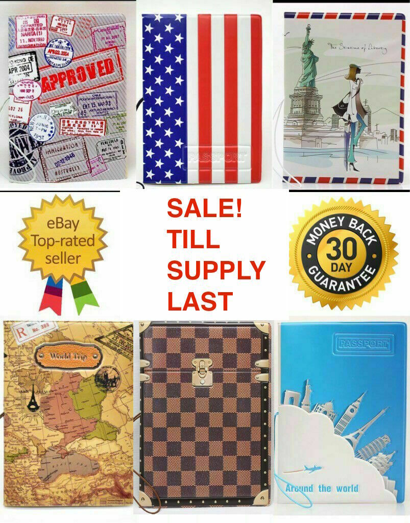 3D World Map Hard Case Passport Cover Holder Travel (purchase 1 GET 1 50% O... - s l1600
