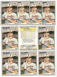 x10-BILL-RIPKEN-1989-Fleer-F-K-FACE-Black-box-Quality-High-Grade-lot-Orioles-RC