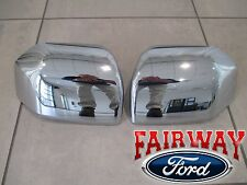 F  Oem Genuine Ford Parts Chrome Mirror Cover Skull Cap Set
