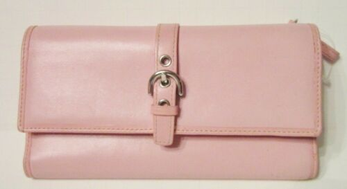 Vintage Coach Heritage Large Pink Leather Wallet E
