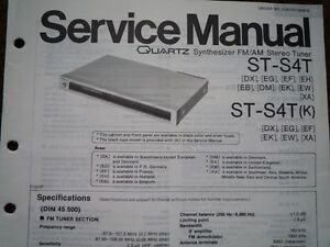 technics st s4t st s4tk stereo tuner service manual wiring parts rh ebay co uk technics 1200 wiring diagram technics stereo wiring diagram