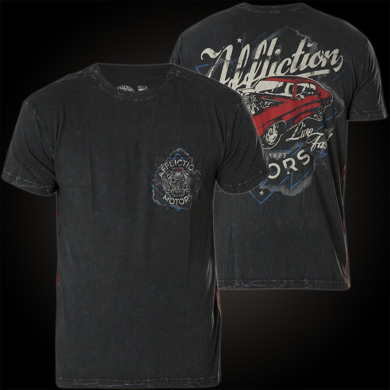 AFFLICTION T-Shirt Powder Coat Schwarz T-Shirts