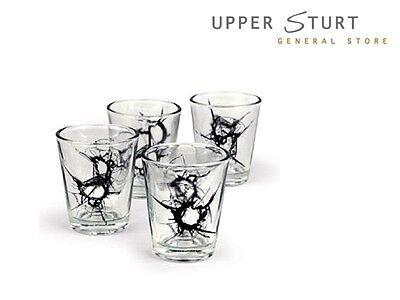 SHOT Glasses – Set of 4 Glass Shot Glasses FAST N FREE DELIVERY