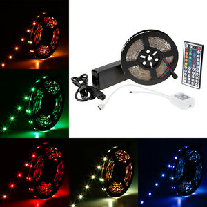 10M-5050-SMD-RGB-300-600Leds-DC24V-LED-Strip-Light-IR-Remote-DC-Power