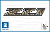 Set Of 2: 2014 <-> 2016 Chevy Silverado Z71 Off Road Decals Realtree Max4 Camo