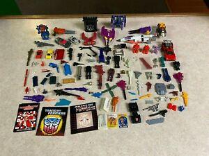 Original Vintage Hasbro 1980's G1 Transformers Figure Weapons Parts Pieces Lot 1