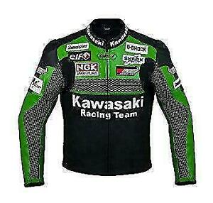 KAWASAKI MOTORCYCLE LEATHER JACKETS WITH ARMOR PROTECTION- Custom Tailored---- ANY DESIGN, ANY LOGO Canada Preview
