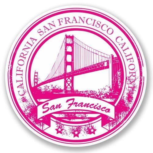 2 x San Francisco Vinyl Sticker Laptop Travel Luggage Car #5755