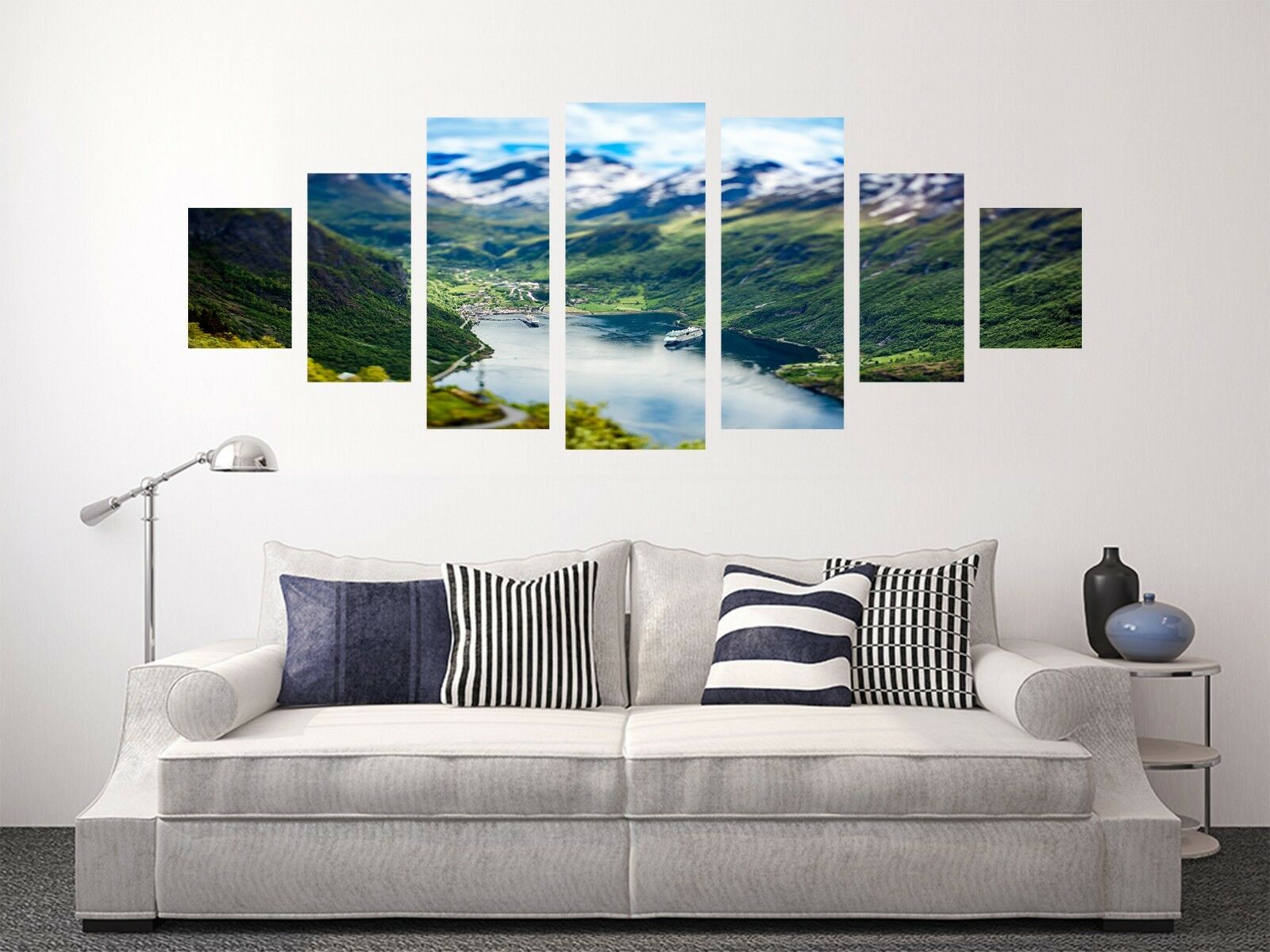 3D Mountain Green 88 Unframed Print Wall Paper Decal Wall Deco Indoor AJ Jenny