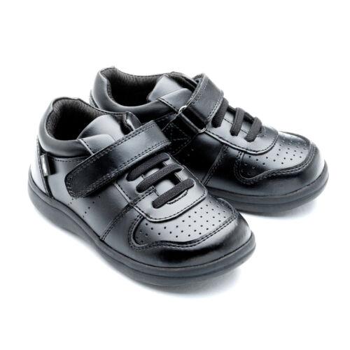 "Chipmunks Boys Black Shoes /""Lucas/"""