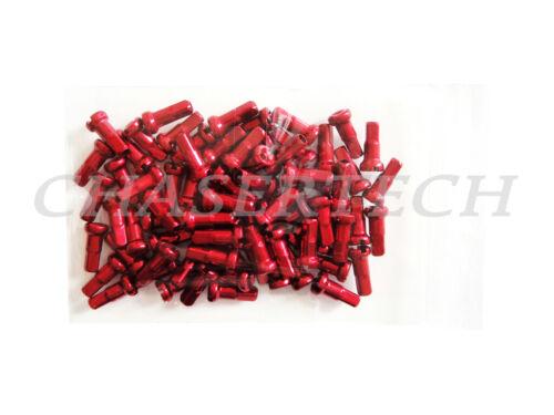 "Bicycle Bike 7075 Alloy Spoke Nipples 1.8mm 15G 1//2/"" 12mm 72 Pcs Red"
