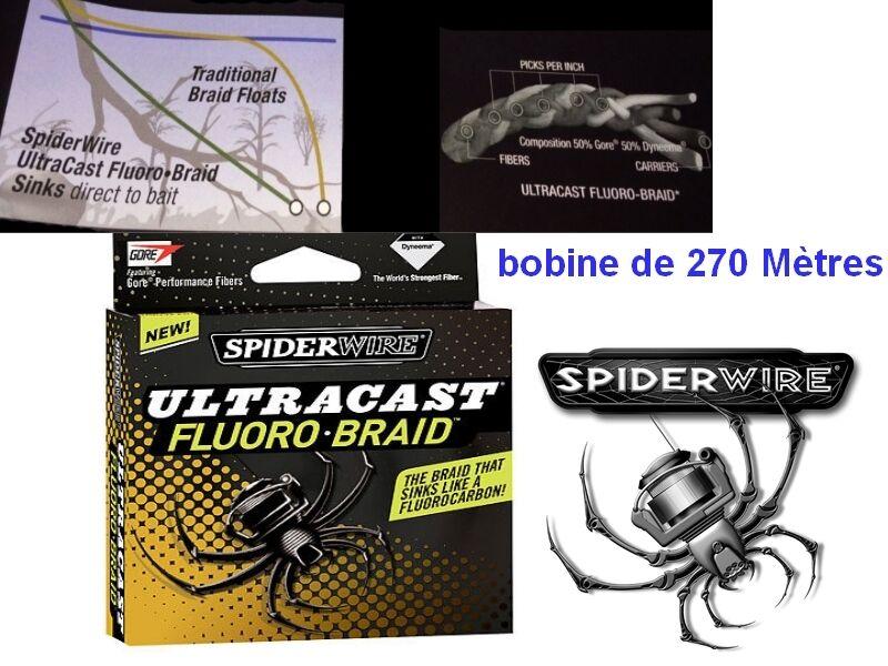 Carp braid 8 strands carnivore fluently spiderwire ultracast fluGoldbarid 270 m