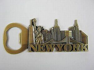 New-York-Metall-Flaschenoeffner-Magnet-Freiheitsstatue-Empire-chrysler