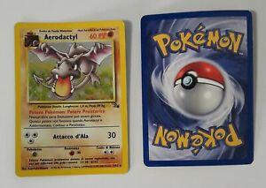 Pokemon TCG Card Fossil Aerodactyl Holo Rare Prerelease 1/62