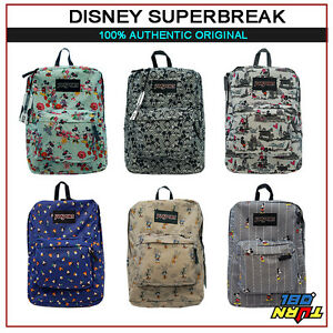 a0e7969355 Image is loading JANSPORT-DISNEY-SUPERBREAK-MICKEY-GOOFY-PLUTO-DONALD- BACKPACK-