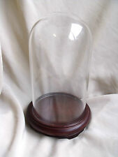 DISPLAY GLASS DOME WITH WOODEN STAND ORNAMENT / WATCH STAND / CLOCK / TAXIDERMY