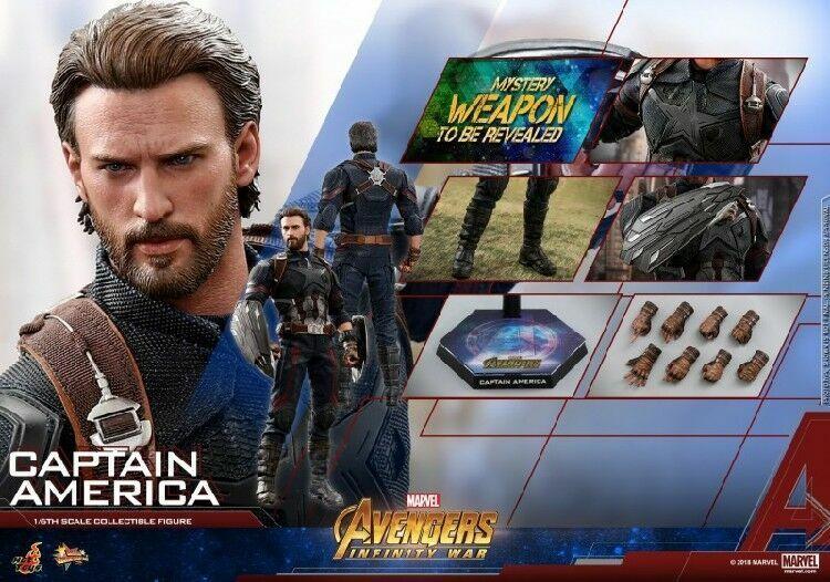 Hot Toys MMS480 1 6 Figura Modelo Marvel Avenger Infinito De Juguete De Capitán América De Guerra